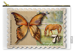 7 Cent Butterfly Stamp Carry-all Pouch by Amy Kirkpatrick