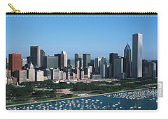 Aerial View Of Buildings In A City Carry-all Pouch by Panoramic Images