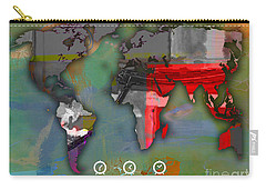 World Map Watercolor Carry-all Pouch by Marvin Blaine