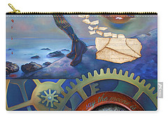 A Clockwerk Moone Is A Harsh Mistress Carry-all Pouch by Patrick Anthony Pierson