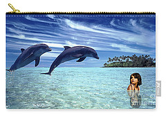A Dolphins Tale Carry-all Pouch by Marvin Blaine
