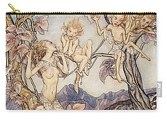 A Fairy Song From A Midsummer Nights Dream Carry-all Pouch by Arthur Rackham