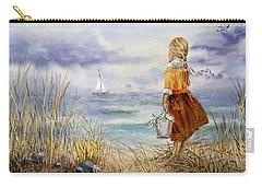 A Girl And The Ocean Carry-all Pouch by Irina Sztukowski