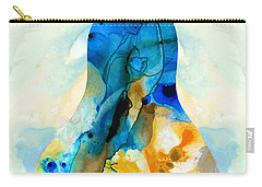 A Nice Pear - Abstract Art By Sharon Cummings Carry-all Pouch by Sharon Cummings