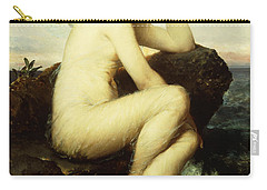 A Nymph By The Sea Carry-all Pouch by Wilhelm Kray