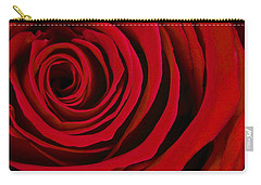 A Rose For Valentine's Day Carry-all Pouch by Adam Romanowicz