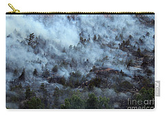 Carry-all Pouch featuring the photograph A Smoky Slope On White Draw Fire by Bill Gabbert