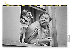 A Woman And Her Dog Carry-all Pouch by Gordon Parks