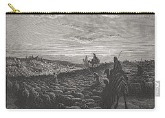 Abraham Journeying Into The Land Of Canaan Carry-all Pouch by Gustave Dore