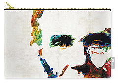 Abraham Lincoln Art - Colorful Abe - By Sharon Cummings Carry-all Pouch by Sharon Cummings