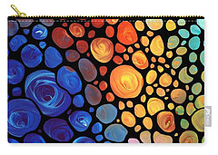 Abstract 1 - Colorful Mosaic Art - Sharon Cummings Carry-all Pouch by Sharon Cummings