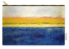 Abstract Dunes With Blue And Gold Carry-all Pouch by Michelle Calkins