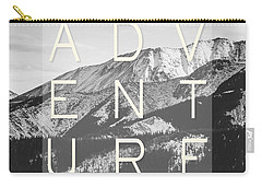 Adventure Typography Carry-all Pouch by Pati Photography