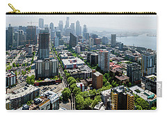 Aerial View Of A City, Seattle, King Carry-all Pouch by Panoramic Images