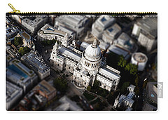 Aerial View Of St Pauls Cathedral Carry-all Pouch by Mark Rogan