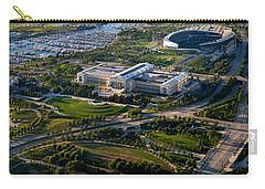 Aerial View Of The Field Museum Carry-all Pouch by Panoramic Images