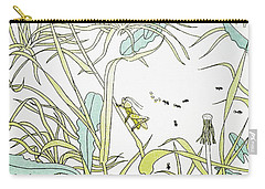Aesop: Ant & Grasshopper Carry-all Pouch by Granger