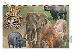 Africa's Big Five Carry-all Pouch by David Stribbling
