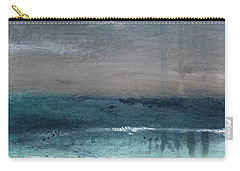 After The Storm- Abstract Beach Landscape Carry-all Pouch by Linda Woods