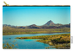 Alamo Lake Carry-all Pouch by Robert Bales