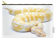 Albino Royal Python Carry-all Pouch by Michel Gunther