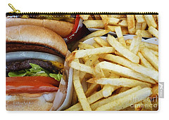 All American Cheeseburgers And Fries Carry-all Pouch by Methune Hively