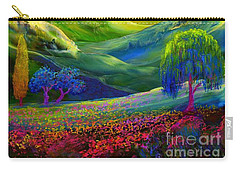 Wildflower Meadows, Amber Skies Carry-all Pouch by Jane Small