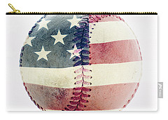 American Baseball Carry-all Pouch by Terry DeLuco