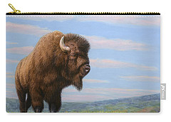 American Bison Carry-all Pouch by James W Johnson