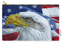 American Eagle Carry-all Pouch by Sarah Batalka