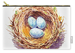 American Robin Nest Carry-all Pouch by Irina Sztukowski