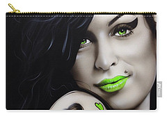 Amy Winehouse - ' Amy Jade ' Carry-all Pouch by Christian Chapman Art