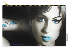 Amy Winehouse - ' Amy 'n' Blues ' Carry-all Pouch by Christian Chapman Art