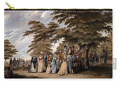 An Airing In Hyde Park, 1796 Carry-all Pouch by Edward Days