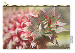 Ananas Comosus - Pink Ornamental Pineapple Carry-all Pouch by Sharon Mau