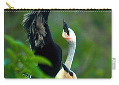 Anhinga Adult With Chicks Carry-all Pouch by Mark Newman
