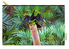 Anhinga Anhinga Anhinga On A Tree Carry-all Pouch by Panoramic Images