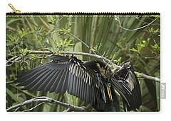 Anhinga Papa Carry-all Pouch by Phill Doherty