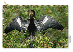 Anhinga Sunning Carry-all Pouch by Anthony Mercieca