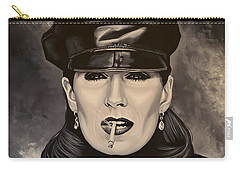 Anjelica Huston Carry-all Pouch by Paul Meijering