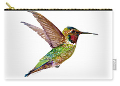 Anna Hummingbird Carry-all Pouch by Amy Kirkpatrick