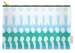 Aqua Carry-all Pouch by Linda Woods