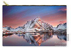 Arctic Dawn Over Reine Village Carry-all Pouch by Janet Burdon