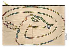 Arizona Diamondbacks Logo Vintage Carry-all Pouch by Florian Rodarte
