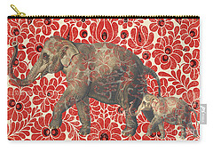 Asian Elephant-jp2185 Carry-all Pouch by Jean Plout