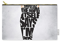 Audrey Hepburn Typography Poster Carry-all Pouch by Ayse Deniz