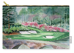 Augusta National 12th Hole Carry-all Pouch by Deborah Ronglien