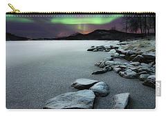 Aurora Borealis Over Sandvannet Lake Carry-all Pouch by Arild Heitmann