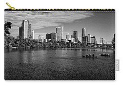 Austin Skyline Bw Carry-all Pouch by Judy Vincent