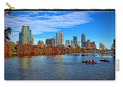 Austin Skyline Painted Carry-all Pouch by Judy Vincent